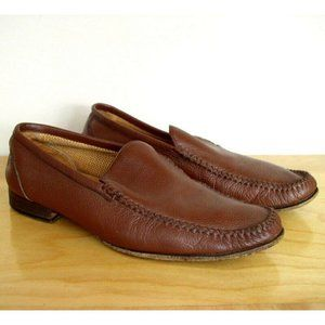 Johnston & Murphy Mens Brown Leather Moccasin 8.5